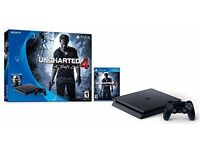 Sony PlayStation 4 Ps4 Slim 500gb Console Uncharted 4 Game Bundle and 4 more games free