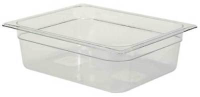 "Rubbermaid Carb-x FG124P00CLR Cold Food Pan - Half Size 12""x10"", 4"" Deep"