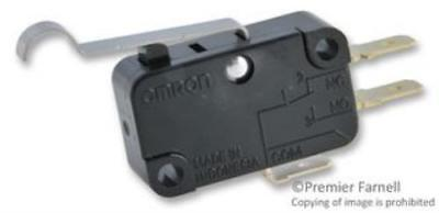 Omron Electronic Components V15g41c25k Microswitch Quick Connect Pack Of 4