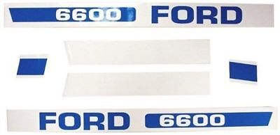 Decal Set Ford 6600 Ebpn16605f. Replaces D-f6600.