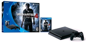 PS4 Slim 500GB  game system works perfectly like new works perfe