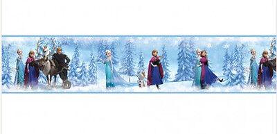 DISNEY FROZEN Princess wallpaper border 15' peel & stick Anna Elsa Olaf Sven NEW (Disney Princess Wallpaper Border)