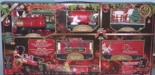 Christmas Train Set Wireless Remote Control North Pole Express ...