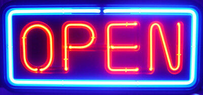 Big Horizontal Neon Open Sign Light Opensign Restaurant Business Bar Bright