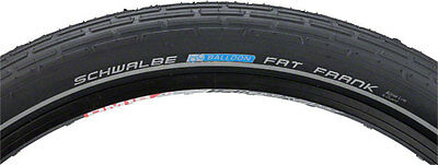 NEW Schwalbe Fat Frank Tire 26x2.35 Wire Bead Black with Reflective Sidewalls