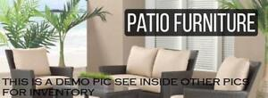 Patio Outdoor Furniture Sale, Chairs, Table, Umbrella, Lounger