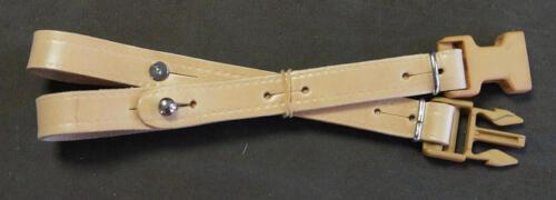 Clip Dorsal Leather Natural, Belt Holding Back, Clip Plastic. New
