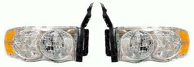 02 03 04 05 Dodge Ram 1500 Headlamp Headlight Pair Set Both 03-05 Ram 2500/3500