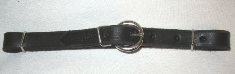 Western Horse Bridle Chin Strap - Black - All leather - New