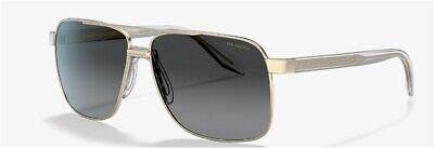 NWT Versace Men Sunglasses VE2174 1252T3 Pale gold/ polarized grey gradient 59mm