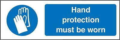 Sign Hand Prot Must Be Worn Personal Protection Site Safety Signs