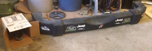 Stock rear bumper off of a 2014 Jeep Wrangler Sport