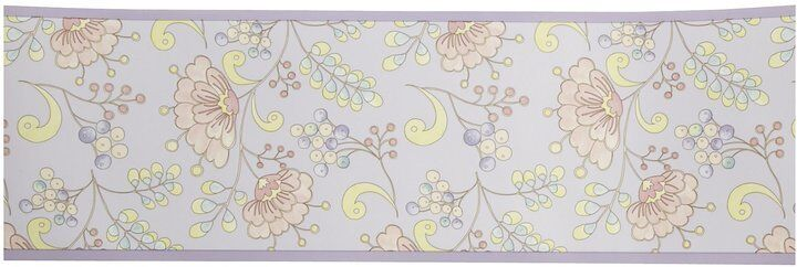 Kidsline Dena Snow Flower Wallpaper Border French Floral Berries Branch Purple