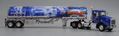 DCP BLUE KENWORTH T800 DAY CAB ATLAS OIL HEIL FUEL MILITARY SALUTE 1/64 34114
