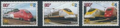 [105] Belgium 1998 railway good set very fine MNH stamps
