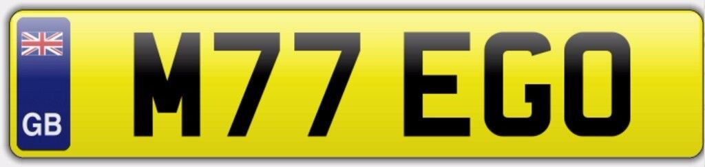 Number Plate for sale - M77 EGO - MY EGO - BMW - MERCEDES - BENTLEY - BUSINESS - RS - AUDI