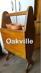 PLANT STAND MAGAZINE Home-made VINTAGE Solid Wood 1960s Funky Movie Set Retro Decor Mid-century Raised Planter Oakville