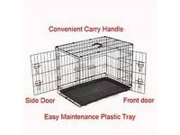 Dog crate with partition