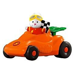Fisher Price Little People Speeder Rabbit & His Race Car NEW