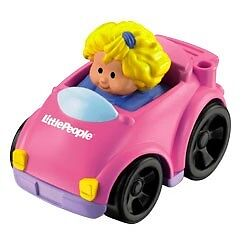 Fisher Price Little People Wheelies Pink Sarah's Coupe Car NEW