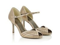 Brand new Jaques Vert gold heeled sandals, size 5