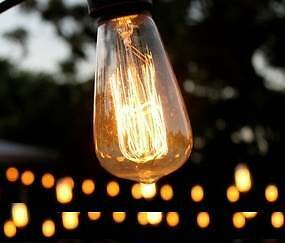 Vintage Festoon Event Lighting Hire (WEDDINGS and PARTIES) North Perth Vincent Area Preview