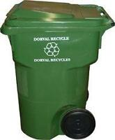WANTED: green-blue-black RECYCLING - GARBAGE BINS