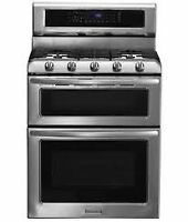 Brand Name Duel Fuel double Oven Gas Range