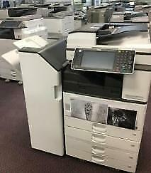 Pre-owned Ricoh MP 3352 Black and White Printer Copier Color Scanner Fax 11x17 Stapler Finisher