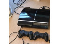 PS3 40GB + 2 wireless control pads