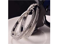 Stunning hoops classic blink bling in silver