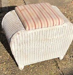 Blanket box / storage stool / mini wicker ottoman, for upcycle project