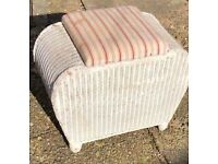 FREE blanket box / storage stool / mini wicker ottoman, for upcycle project