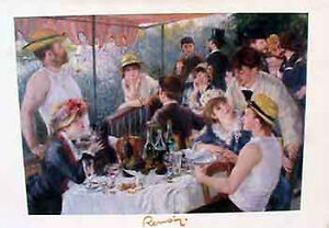 "Renoir print, 60x80cm (24""x36') Not frame on laminated white woo"