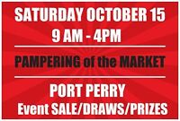 PORT PERRY PAMPERING OF THE MARKET 20 spots available