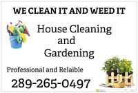 HOUSE CLEANING AND GARDENING