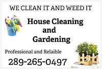 WE CLEAN IT WE WEED IT