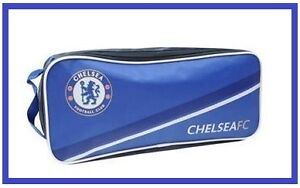OFFICIAL CHELSEA FC SHOE/BOOT BAG ZIPPED WITH CARRYING HANDLE FREE UK POSTAGE