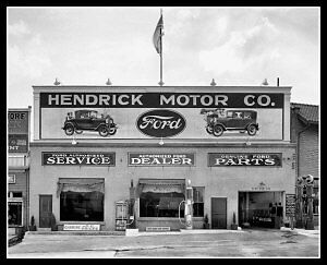 Ford Dealership Photo 8X10 - Maryland 1928 B&W