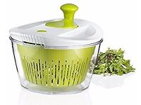 Brand New Large Salad Spinner with 5.0 Quart Bowl, Plus Extra Storage Lid