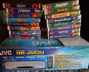 Selling Disney collection Including VCR