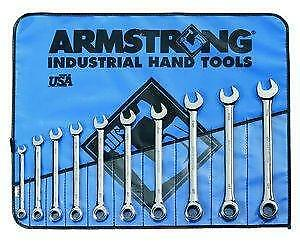 Armstrong 10Pc Chrome Metric Combo MAXX RATCHET Wrench Set (ARM 53-847)