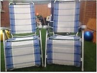 Pair of dukdalf reclining chairs