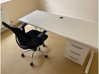 Office Desk, Chair and Draws