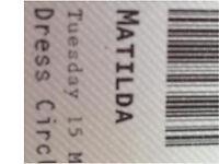 4 Matilda theatre tickets