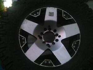 xd 18' wheels with 35 ' tires
