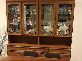 Wall Unit - Teak Veneer   Cabinets   Gumtree Australia Brisbane ...