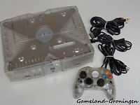 ORIGINAL CLEAR XBOX CRYSTAL CONSOLE COMPLETE