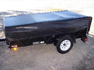 CUSTOM FITTED HIGH QUALITY 4 X 8 FT EXPANDABLE TRAILER COVER