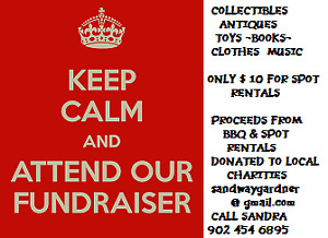 FUNDRAISER - YARD SALE AND